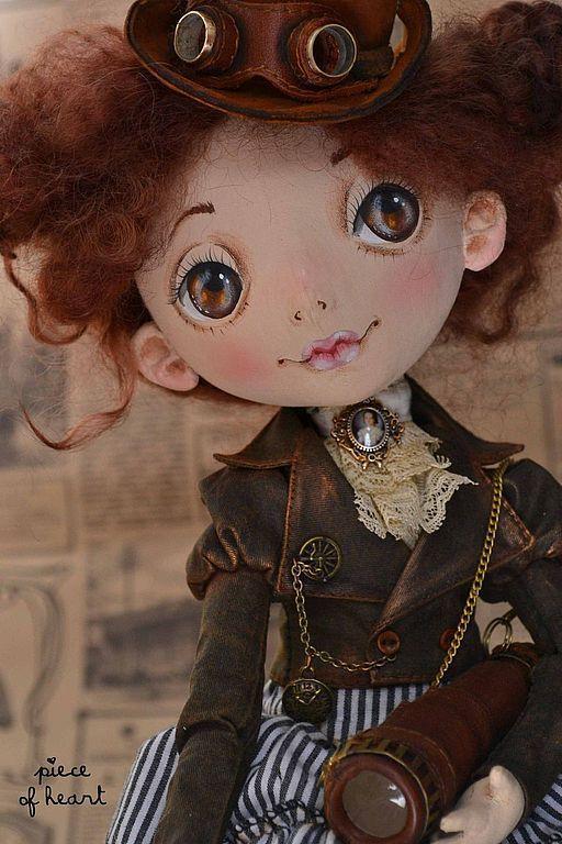 Коллекционные куклы ручной работы. Ярмарка Мастеров - ручная работа. Купить позволь себе немного приключений.... Handmade. Коричневый, акрил