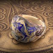 """Украшения ручной работы. Ярмарка Мастеров - ручная работа """"Пролетая над Землей"""" лэмпворк кольцо. Handmade."""