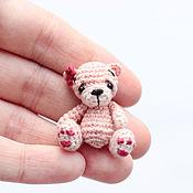 Куклы и игрушки ручной работы. Ярмарка Мастеров - ручная работа Миниатюрный мишка 3,5 см Карамелька амигуруми. Handmade.