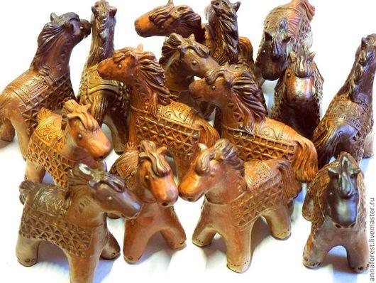 Статуэтки ручной работы. Ярмарка Мастеров - ручная работа. Купить Керамические Лошадки. Handmade. Коричневый, подарок подруге, Керамика, глина