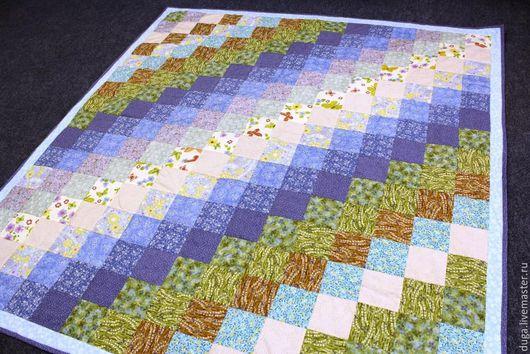 Текстиль, ковры ручной работы. Ярмарка Мастеров - ручная работа. Купить Лоскутное покрывало «У Берега» № 395. Handmade.