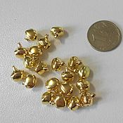 Материалы для творчества handmade. Livemaster - original item Bells metal color gold 8 mm. Handmade.
