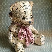 Куклы и игрушки ручной работы. Ярмарка Мастеров - ручная работа Мишка Тедди из бумаги. Старые ноты.. Handmade.