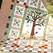 """Для дома и интерьера ручной работы. Ярмарка Мастеров - ручная работа Лоскутное одеяло """"Дубы"""". Handmade."""
