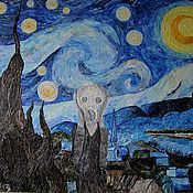 Картины и панно ручной работы. Ярмарка Мастеров - ручная работа Крик в звездную ночь. Handmade.