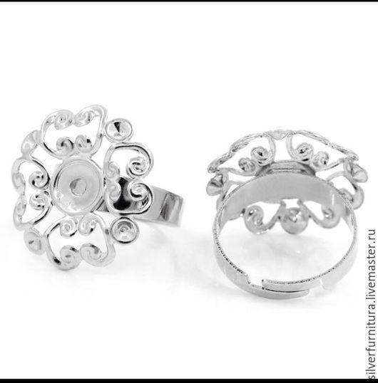Для украшений ручной работы. Ярмарка Мастеров - ручная работа. Купить Основа для кольца, ажурная, круглая 18,3 мм. Handmade.