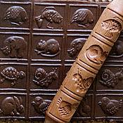 """Для дома и интерьера ручной работы. Ярмарка Мастеров - ручная работа скалка для печенья и пряников """"Фауна"""" Скалка с узором. Handmade."""