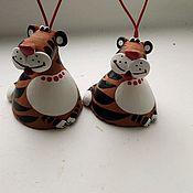 Колокольчики ручной работы. Ярмарка Мастеров - ручная работа Колокольчик тигр. Handmade.