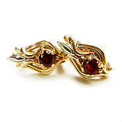 Украшения handmade. Livemaster - original item Earrings made of gold