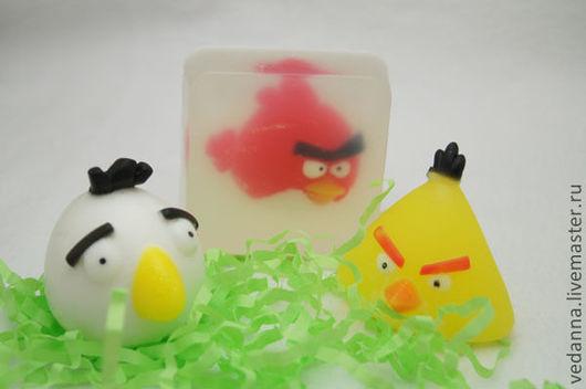 Мыло ручной работы. Ярмарка Мастеров - ручная работа. Купить мыло Злые птички (Angry Birds). Handmade. Мыло сувенирное