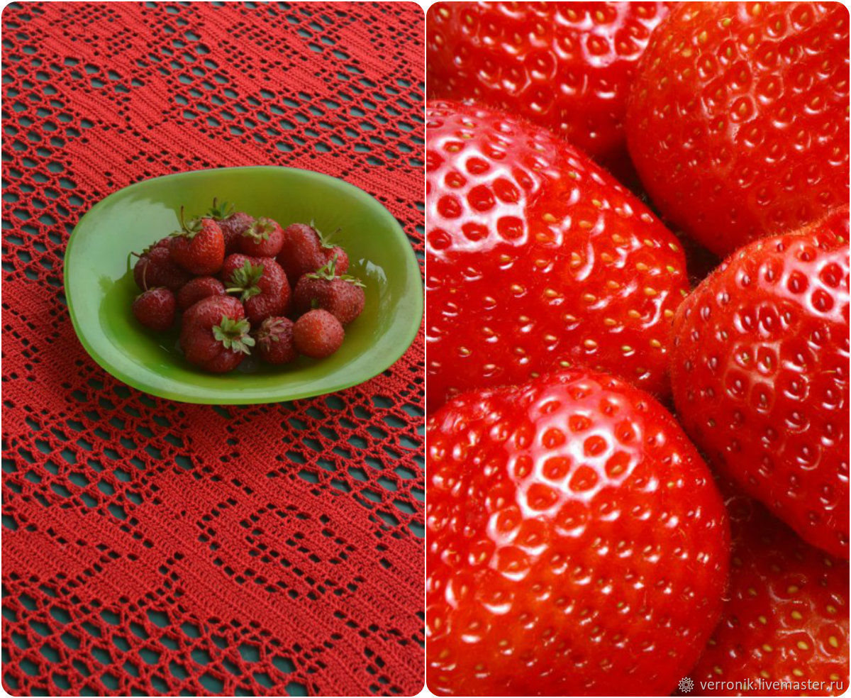 For home and interior. Textiles. TABLECLOTHS. Fair masters - handmade. Tablecloth knitted handmade buy. Tablecloth. Napkin. Red. Handmade.  Shop master Dominic. © https://www.liv