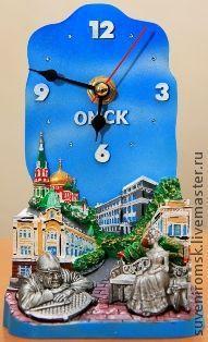 """Часы для дома ручной работы. Ярмарка Мастеров - ручная работа. Купить Часы """"Любинский проспект г. Омск"""". Handmade."""