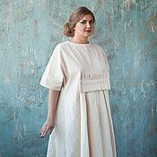 Платья ручной работы. Ярмарка Мастеров - ручная работа платье из небеленого хлопка. Handmade.