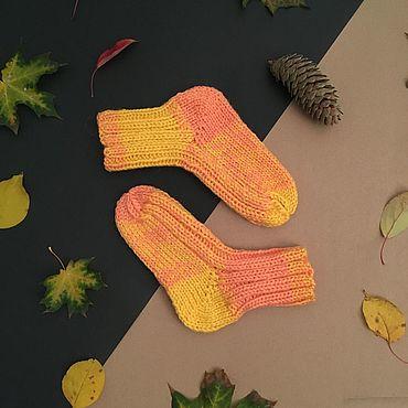 Аксессуары ручной работы. Ярмарка Мастеров - ручная работа Оранжевые носки. Handmade.