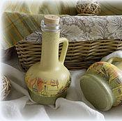 """Для дома и интерьера ручной работы. Ярмарка Мастеров - ручная работа Набор бутылок """"OLIVE OIL"""". Handmade."""