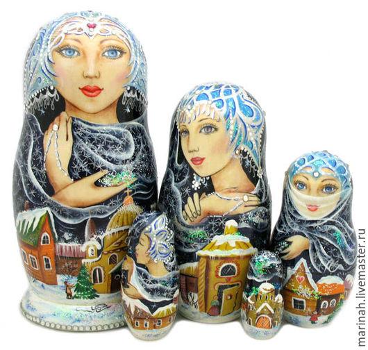 Подарочные наборы ручной работы. Ярмарка Мастеров - ручная работа. Купить Зима. Handmade. Тёмно-синий, Снег, стразы