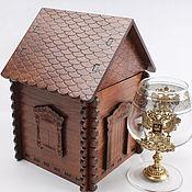 Сувениры и подарки handmade. Livemaster - original item House for cognac glasses, original gift. Handmade.