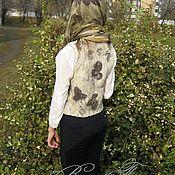 Одежда ручной работы. Ярмарка Мастеров - ручная работа Жилет из войлока Прощание с осенью для девочки. Handmade.