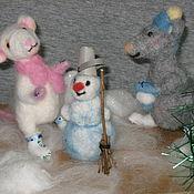 Куклы и игрушки ручной работы. Ярмарка Мастеров - ручная работа Мышиная семья. Handmade.