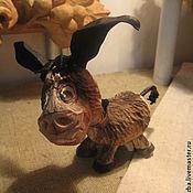 """Мини фигурки и статуэтки ручной работы. Ярмарка Мастеров - ручная работа """"Ну чем я не конь"""", ослик- резьба по дереву. Handmade."""