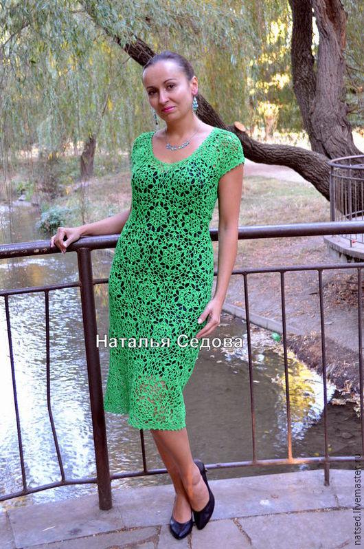 """Платья ручной работы. Ярмарка Мастеров - ручная работа. Купить Платье """"Упоительная зелень"""". Handmade. Зеленый, повседневное платье"""