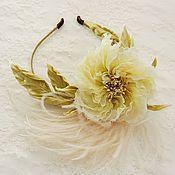 Украшения ручной работы. Ярмарка Мастеров - ручная работа Староанглийская роза на ободке. Handmade.