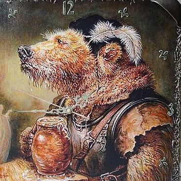 """Для дома и интерьера ручной работы. Ярмарка Мастеров - ручная работа """"Настоящий мужчина!"""" :-)Часы настенные, картины,подарок,мужчина,панно. Handmade."""