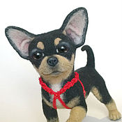 Подарки к праздникам handmade. Livemaster - original item Chihuahua. Pup. Felt. Handmade.