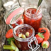 Сувениры и подарки handmade. Livemaster - original item Strawberry - rhubarb jam