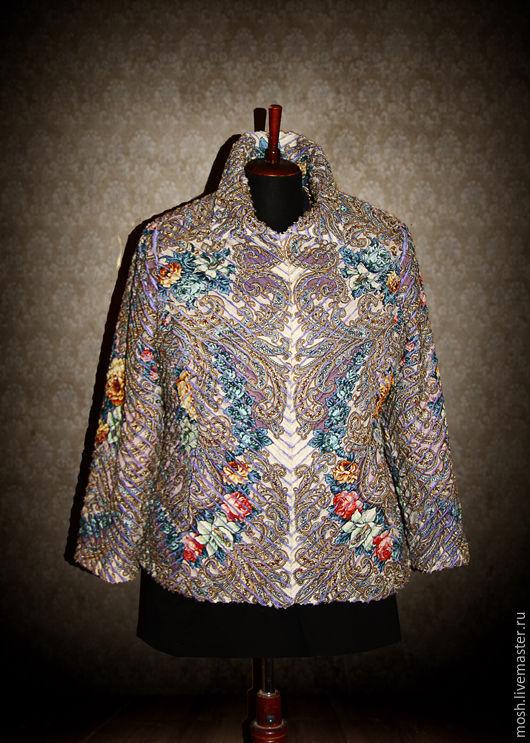 Верхняя одежда ручной работы. Ярмарка Мастеров - ручная работа. Купить Синельная куртка из ПП платка Тайна Сердца. Handmade.