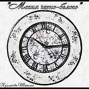 """Для дома и интерьера ручной работы. Ярмарка Мастеров - ручная работа Часы """"Магия черно-белого"""". Handmade."""