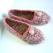 Обувь ручной работы handmade. Livemaster - original item Slippers: Women`s knitted-felted