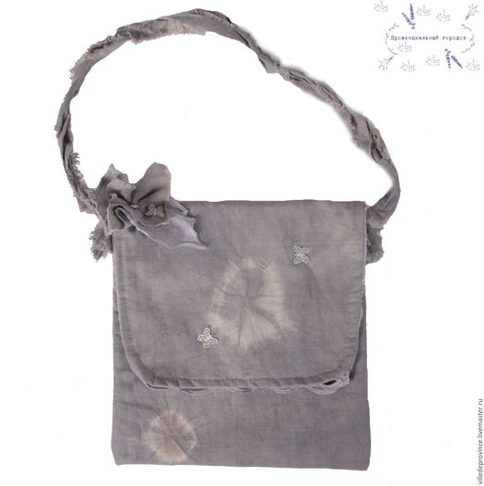 Льняная сумочка в технике Узелковый батик станет Вашей незаменимой подружечкой во всех летних прогулках, гуляниях, путешествиях, порадует в рабочие будни.