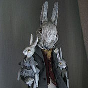 Куклы и игрушки ручной работы. Ярмарка Мастеров - ручная работа Кролик мистер Пуш.. Handmade.
