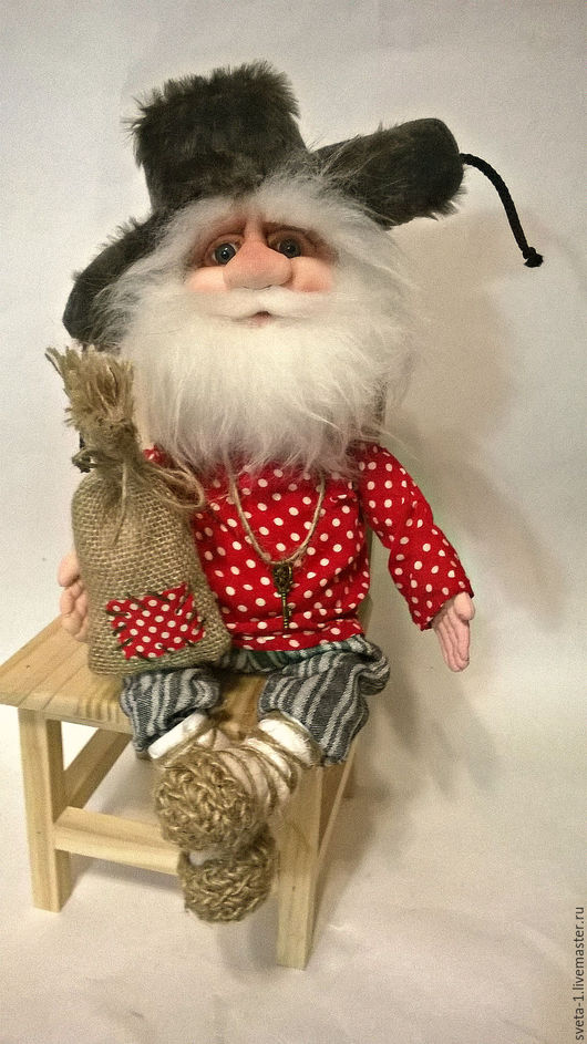 Сказочные персонажи ручной работы. Ярмарка Мастеров - ручная работа. Купить домовой. Handmade. Ярко-красный, интерьерная кукла