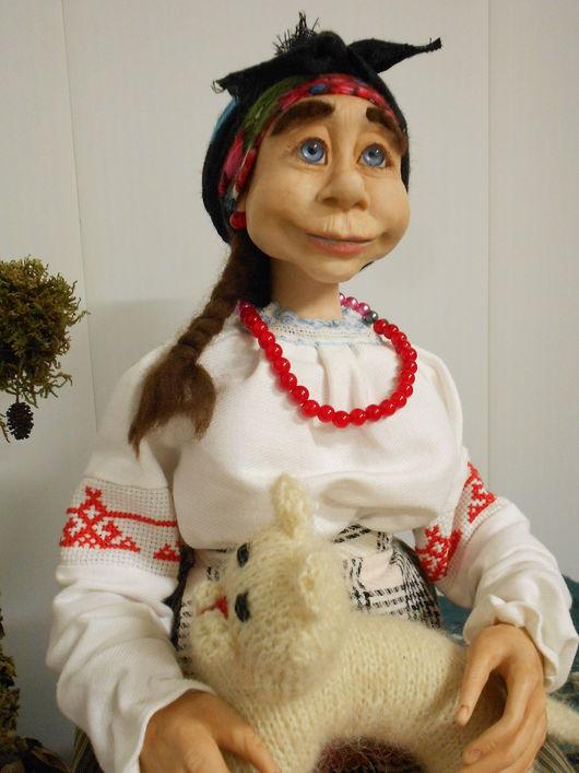 Сказочные персонажи ручной работы. Ярмарка Мастеров - ручная работа. Купить Кубанская Казачка, Авторская кукла. Handmade. Комбинированный, мохер