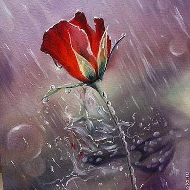 Картины и панно ручной работы. Ярмарка Мастеров - ручная работа Розовый дождь. Handmade.