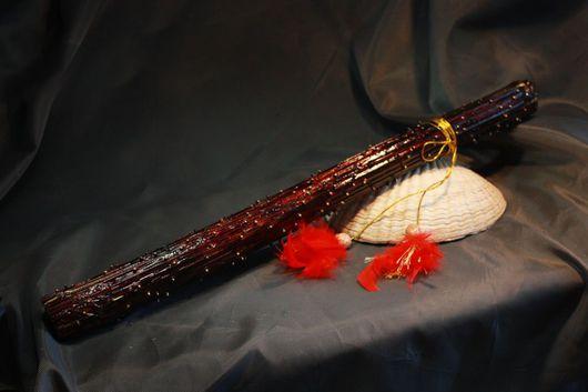 Ударные инструменты ручной работы. Ярмарка Мастеров - ручная работа. Купить Посох дождя ( Rainstick) из дягеля. Handmade. музыка