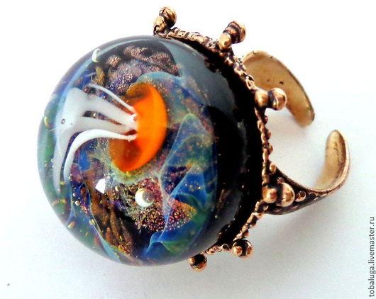 Кольца ручной работы. Ярмарка Мастеров - ручная работа. Купить Кольцо Сверкающая глубина. Handmade. Кольцо, необычное украшение