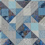 """Для дома и интерьера ручной работы. Ярмарка Мастеров - ручная работа Лоскутное одеяло """"Сумеречные лучи"""". Handmade."""