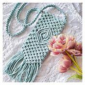 Сумки и аксессуары handmade. Livemaster - original item Bag for a mobile phone or glasses in the macrame technique. Handmade.