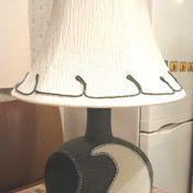 Для дома и интерьера ручной работы. Ярмарка Мастеров - ручная работа Лампа-ночник настольная зелено-белая. Handmade.