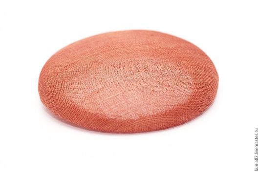 Основа для шляпки, синамей, 18 см. Цвет: КОРАЛЛ, полуфабрикат для изготовления шляп и головных уборов. Анна Андриенко. Ярмарка мастеров