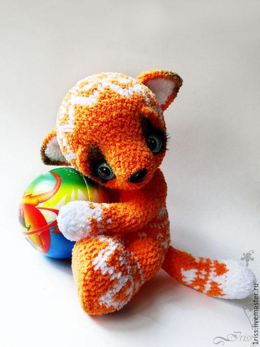 игрушка из плюшевой пряжи для маленьких детей