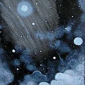 Картины и панно ручной работы. Ярмарка Мастеров - ручная работа Картина   Галактика №4 Туманность  звезды на  небе. Handmade.