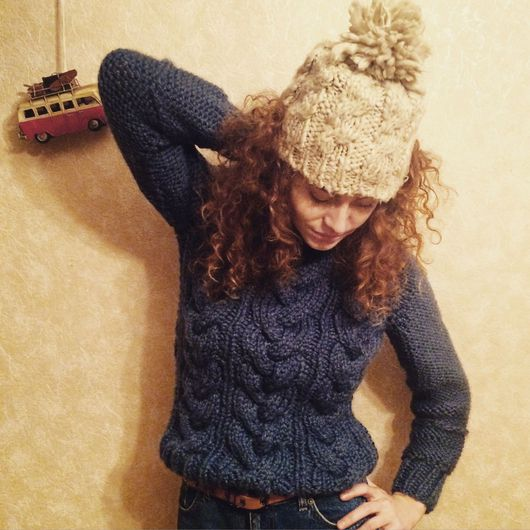 """Кофты и свитера ручной работы. Ярмарка Мастеров - ручная работа. Купить Теплый зимний свитер по имени """"Мерлин"""". Handmade."""