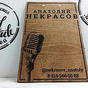 Канцелярские товары handmade. Livemaster - original item Wooden tablet with clip. Handmade.