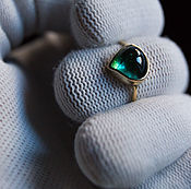 Украшения handmade. Livemaster - original item Tourmaline drop ring. Handmade.