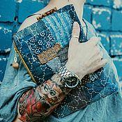 Сумки и аксессуары ручной работы. Ярмарка Мастеров - ручная работа Сумочка боро  с вышивкой Сашико. Handmade.