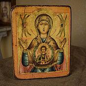 Картины и панно handmade. Livemaster - original item Icon Of The Theotokos Of The Sign. Handmade.